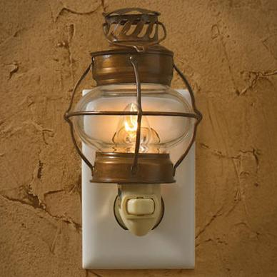 Decorative Wall Plug In Nightlights : Sea Lantern Bubble Glass Night Light Wall Plug In Park Designs Home Room Decor eBay